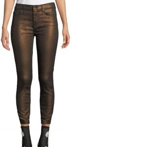 NWT 7 For All Mankind Metallic Ankle Skinny jeans